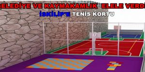 İskilip'in tenis kortu oluyor